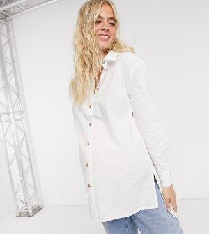 Белая эксклюзивная рубашка -Белый Pieces Maternity