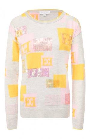 Шерстяной пуловер Escada Sport. Цвет: серый