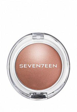 Румяна Seventeen перламутровые PEARL BLUSH POWDER т.04 фундук, 7.5 г. Цвет: коричневый