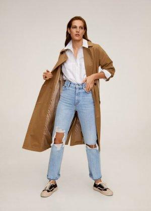 Нарочно рваные джинсы straight-fit - Brokens Mango. Цвет: синий средний