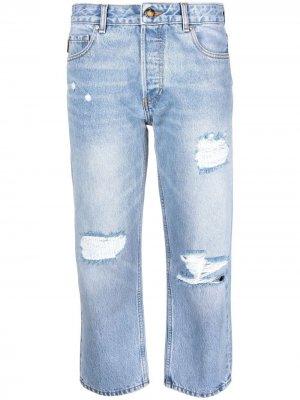 Укороченные джинсы GANNI. Цвет: синий