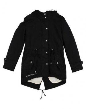 Легкое пальто MY T-SHIRT. Цвет: черный