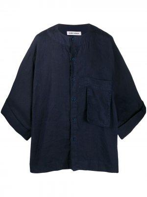 Джинсовая рубашка Kaii свободного кроя Henrik Vibskov. Цвет: синий