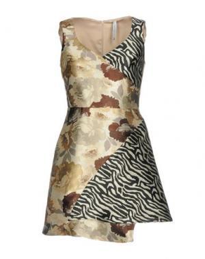 Короткое платье PIANURASTUDIO. Цвет: слоновая кость