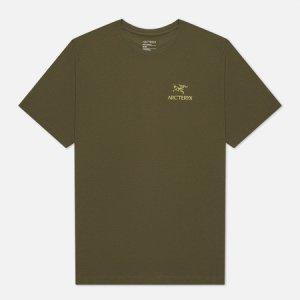 Мужская футболка Emblem SS Arcteryx. Цвет: оливковый