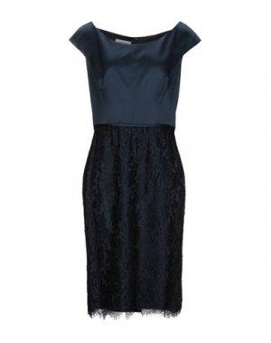 Платье до колена BOTONDI COUTURE. Цвет: темно-синий