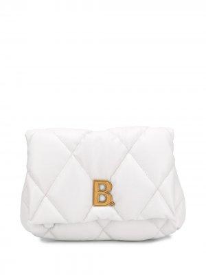 Клатч Touch Puffy среднего размера Balenciaga. Цвет: белый