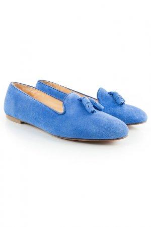 Лоферы la demsoiselle BOBBIES. Цвет: голубой