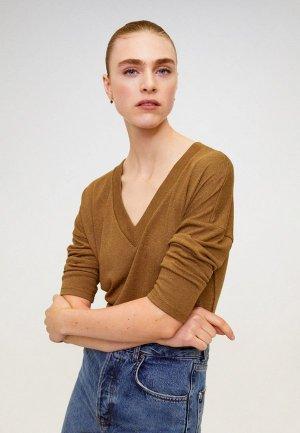 Пуловер Mango - PICEASY6. Цвет: коричневый
