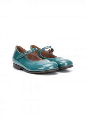 Лакированные туфли Мэри Джейн Pèpè. Цвет: зеленый