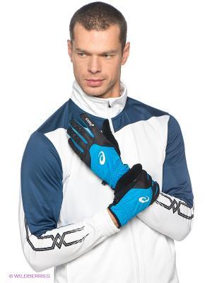 Перчатки WINTER GLOVES ASICS. Цвет: голубой, черный
