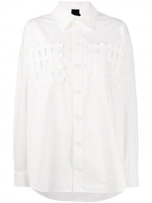Рубашка свободного кроя с аппликацией Bernhard Willhelm. Цвет: белый