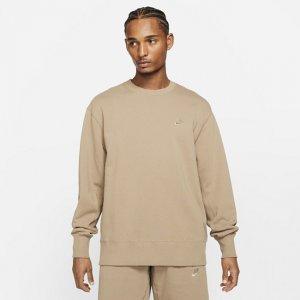 Мужской классический флисовый свитшот Sportswear - Коричневый Nike