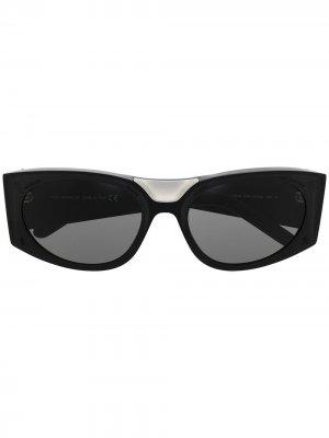 Солнцезащитные очки ML 018 Moncler Eyewear. Цвет: черный
