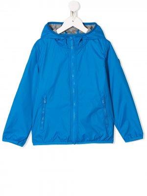 Непромокаемая куртка на молнии с капюшоном Ciesse Piumini Junior. Цвет: синий