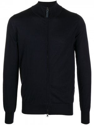 Zip-up wool cardigan Brioni. Цвет: синий