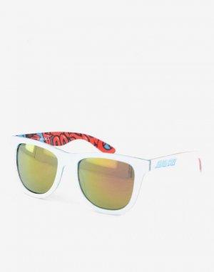 Бело-синие солнцезащитные очки с разноцветной внутренней поверхностью -Белый Santa Cruz