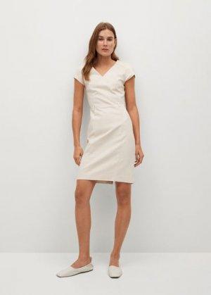 Короткое облегающее платье - Cofi7-n Mango. Цвет: бежевый