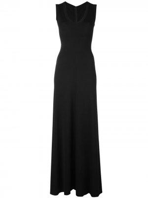 Длинное платье Alaïa Pre-Owned. Цвет: черный
