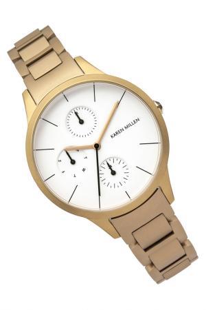 Часы наручные Karen Millen. Цвет: белый, золотой