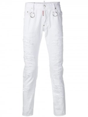 Расклешенные джинсы скинни Dsquared2. Цвет: белый