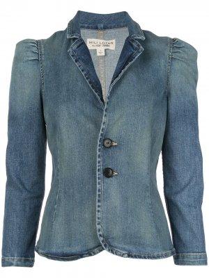 Джинсовая куртка кроя слим Nili Lotan. Цвет: синий