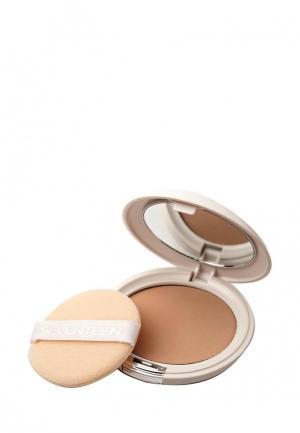 Пудра Seventeen Компактная шелковая т.05 Natural Glow Silky Powder Ириска. Цвет: бежевый