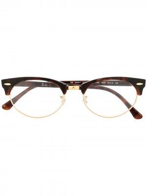 Очки в оправе Clubmaster Ray-Ban. Цвет: коричневый
