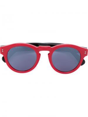 Солнцезащитные очки Leonard Illesteva. Цвет: красный