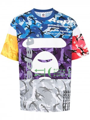 Colour-block camouflage T-shirt AAPE BY *A BATHING APE®. Цвет: разноцветный