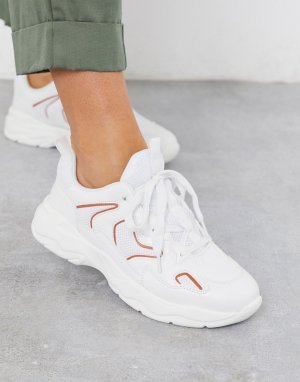 Кроссовки на массивной подошве -Белый Ichi