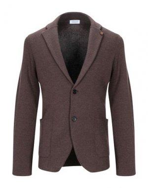 Пиджак HERITAGE. Цвет: темно-коричневый