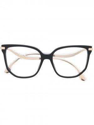 Очки в массивной оправе Jimmy Choo Eyewear. Цвет: черный