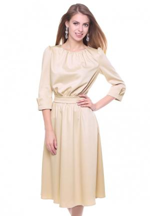 Платье Olivegrey ZALANY. Цвет: бежевый