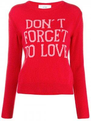 Slogan crewneck jumper Alberta Ferretti. Цвет: красный