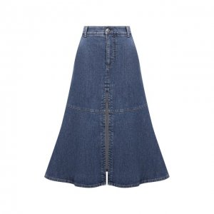 Джинсовая юбка Stella McCartney. Цвет: синий