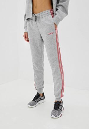 Брюки спортивные adidas W E 3S PANT. Цвет: серый