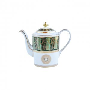 Кофейник Eventail Vert Bernardaud. Цвет: зелёный