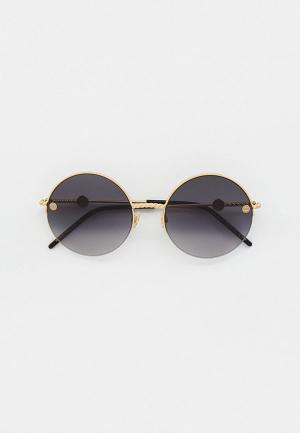 Очки солнцезащитные Elie Saab ES 085/S RHL. Цвет: золотой