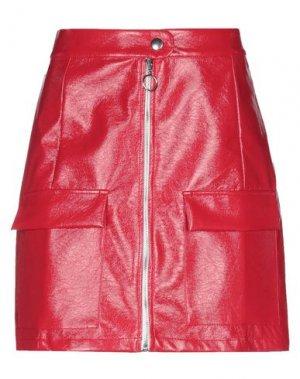 Мини-юбка TOY G.. Цвет: красный