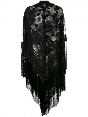 Шаль с бахромой Dolce & Gabbana. Цвет: черный