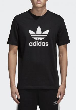 Футболка adidas Originals TREFOIL T-SHIRT. Цвет: черный