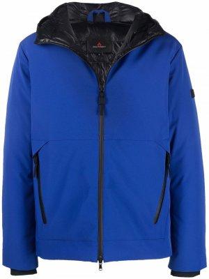 Куртка на молнии с капюшоном Peuterey. Цвет: синий
