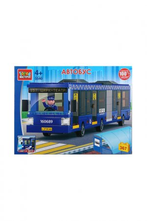 Автобус с гармошкой,367 детали Город мастеров. Цвет: синий