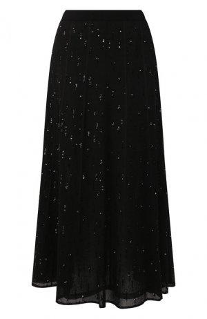 Юбка-миди Givenchy. Цвет: чёрный