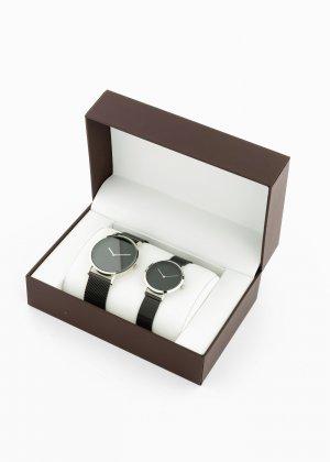 Наручные часы для мужчины и женщины (2 изд.) bonprix. Цвет: черный
