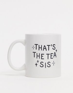 Кружка с надписью thats the tea sis Typo-Мульти TYPO