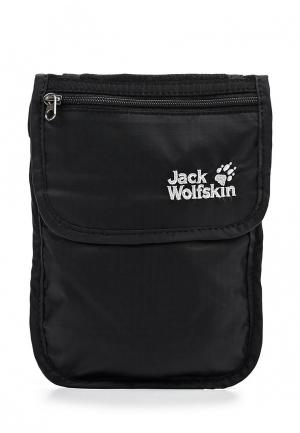 Сумка Jack Wolfskin PASSPORT BREAST POUCH. Цвет: черный