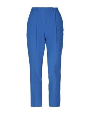 Повседневные брюки ANGELO MARANI. Цвет: ярко-синий