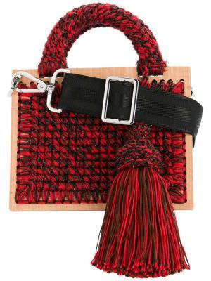 Плетеная сумка плечо Juliete St. Barts 711. Цвет: красный